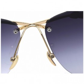 Kacamata Wanita Olive Branch Sunglasses Anti UV - Gray - 4