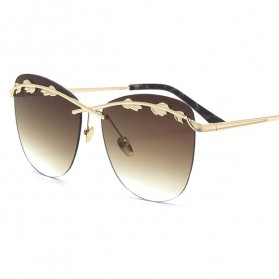 Kacamata Wanita Olive Branch Sunglasses Anti UV - Brown - 1