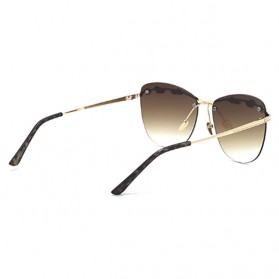 Kacamata Wanita Olive Branch Sunglasses Anti UV - Brown - 2