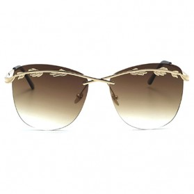 Kacamata Wanita Olive Branch Sunglasses Anti UV - Brown - 3