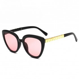 Kacamata Cat Eye Wanita Retro Korea - Pink