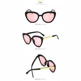 Kacamata Cat Eye Wanita Retro Korea - Pink - 3