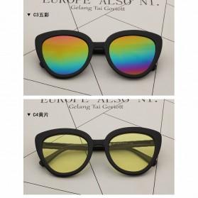 Kacamata Cat Eye Wanita Retro Korea - Pink - 4