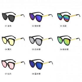 Kacamata Cat Eye Wanita Retro Korea - Pink - 5