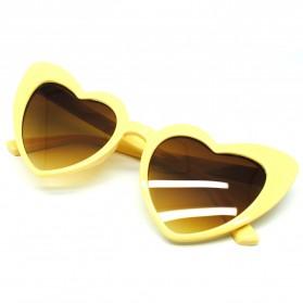 Kacamata Cat Eye Wanita Love Heart - Brown