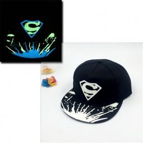 Topi Snapback Logo Superman Glow In The Dark - Black - 3