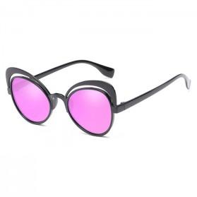 Kacamata Cat Eye Wanita Retro Color - Black/Pink