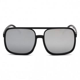 Kacamata Wanita Square Vintage Retro - Black/Pink - 3