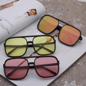 Kacamata Wanita Square Vintage Retro - Black/Pink - 4