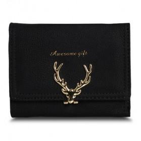 Dompet Wanita Deer Pattern - Black