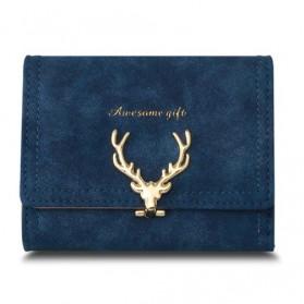 Dompet Wanita Deer Pattern - Blue