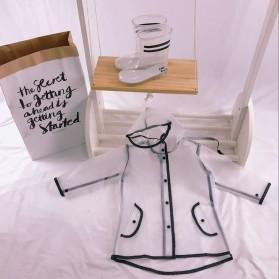 Jas Hujan Anak EVA Raincoat Size XL - White - 2
