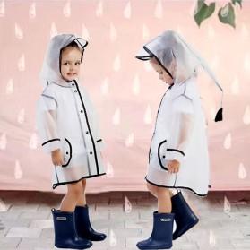Jas Hujan Anak EVA Raincoat Size XL - White - 7