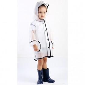 Jas Hujan Anak EVA Raincoat Size XL - White - 8