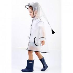 Jas Hujan Anak EVA Raincoat Size XL - White - 9