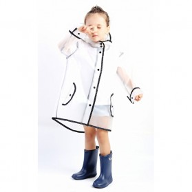 Jas Hujan Anak EVA Raincoat Size XXL - White - 10