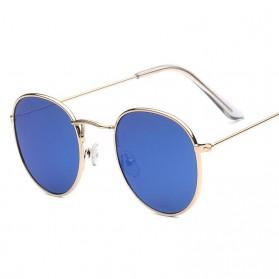 Kacamata Sunglasses Polarized Round Frame Vintage - Blue