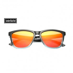 Aoron Kacamata Sunglasses D Shape Polarized - 9821 - Black/Red