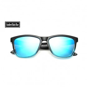 Aoron Kacamata Sunglasses D Shape Polarized - 9821 - Black/Blue