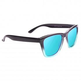 Aoron Kacamata Sunglasses D Shape Polarized - 9821 - Black/Blue - 2