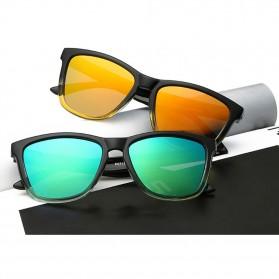 Aoron Kacamata Sunglasses D Shape Polarized - 9821 - Black/Blue - 3