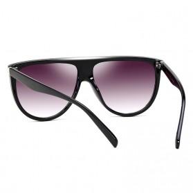Kacamata Sunglasses Wanita Big Frame - Black - 2