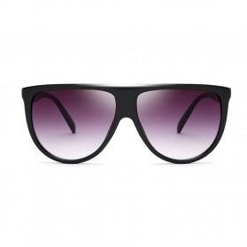 Kacamata Sunglasses Wanita Big Frame - Black - 3