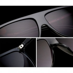Kacamata Sunglasses Wanita Big Frame - Black - 4