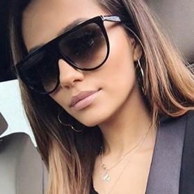Kacamata Sunglasses Wanita Big Frame - Black - 5