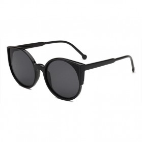 Kacamata Sunglasses Cat Eye Wanita - Black/Gray