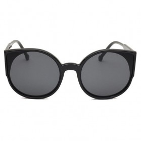 Kacamata Sunglasses Cat Eye Wanita - Black/Gray - 2