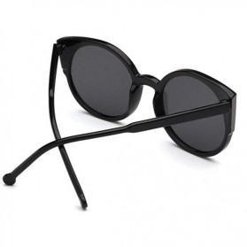 Kacamata Sunglasses Cat Eye Wanita - Black/Gray - 3