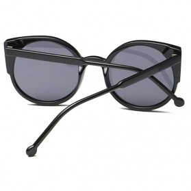 Kacamata Sunglasses Cat Eye Wanita - Black/Gray - 4
