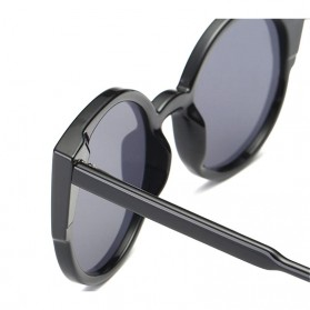 Kacamata Sunglasses Cat Eye Wanita - Black/Gray - 5