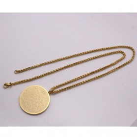 Kalung Medal Stainless Steel Model Ayat Kursi - Golden - 5