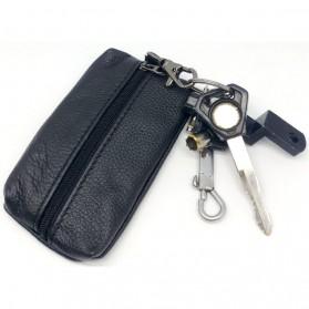 Dompet Gantungan Kunci Kulit Desain Elegan - Y108 - Black