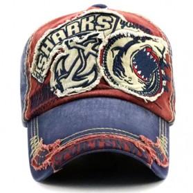 Jamont Topi Baseball Cap Snapback Motif Bordir Shark - G13948 - Blue - 5
