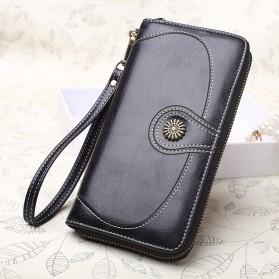 Dompet Kulit Wanita Long Zipper - 170 - Black - 2