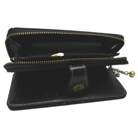 Dompet Kulit Wanita Long Zipper - 170 - Black - 4
