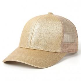 Topi Baseball Glitter Ponytail Cap - BQ126 - Golden
