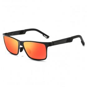Kacamata Hitam Pria Magnesium Polarized Sunglasses - A6560 - Black/Orange