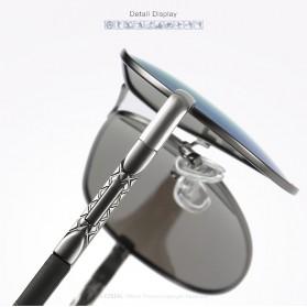 Kacamata Aviator Pria Aluminium Polarized Sunglasses - 8725 - Silver Blue - 3