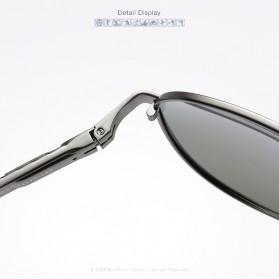 Kacamata Aviator Pria Aluminium Polarized Sunglasses - 8725 - Silver Blue - 4