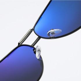 Kacamata Aviator Pria Aluminium Polarized Sunglasses - 8725 - Silver Blue - 6