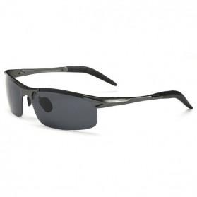 Kacamata Hitam Pria Magnesium Polarized Sunglasses - 8177 - Black