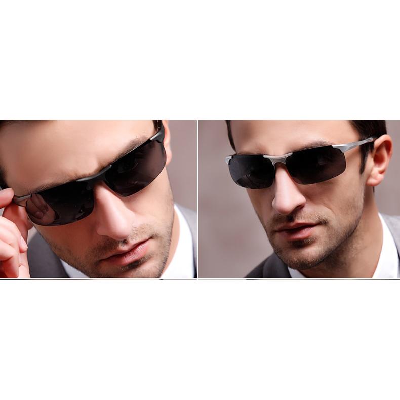 Kacamata Hitam Pria Magnesium Polarized Sunglasses - 8177 - Black - 5 . 68a0495c50