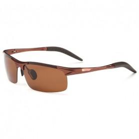 Kacamata Hitam Pria Magnesium Polarized Sunglasses - 8177 - Brown