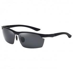 Kacamata Hitam Pria Magnesium Polarized Sunglasses - 8673 - Black