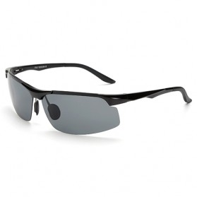 Kacamata Hitam Pria Magnesium Polarized Sunglasses - 8003 - Black