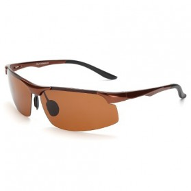 Kacamata Hitam Pria Magnesium Polarized Sunglasses - 8003 - Brown
